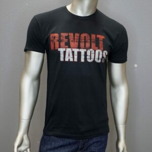 """Revolt Tattoos Distressed Logo"" (Black)"
