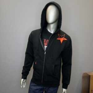 """Revolt Distressed Star Full Zip"" (Black)"