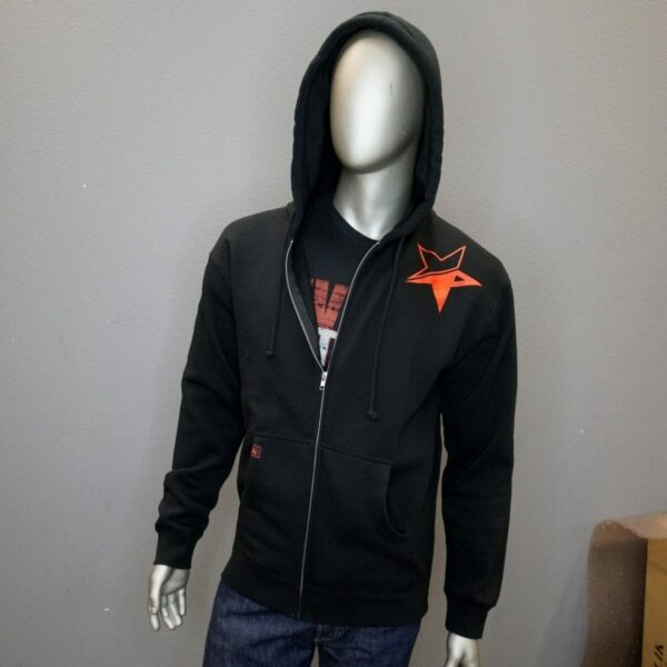 """Revolt Distressed Star Full Zip"" (Black) 1"