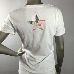 "Revolt ""Flag Girl"" White T-Shirt"