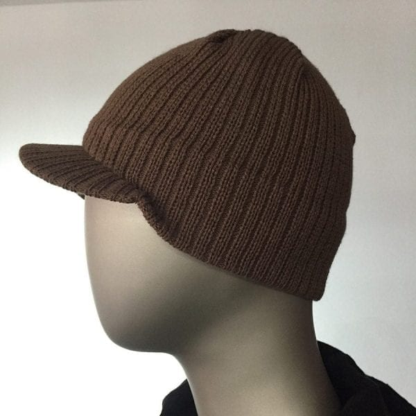 Knit Cap (Brown) 2